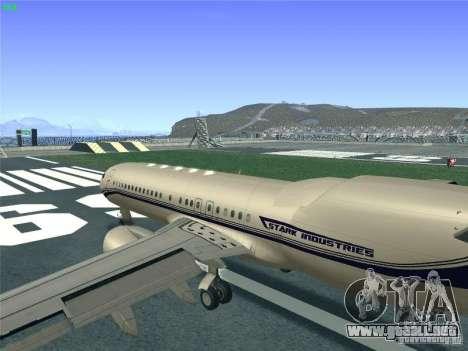 Boeing 737 Iron Man Bussines Jet para visión interna GTA San Andreas