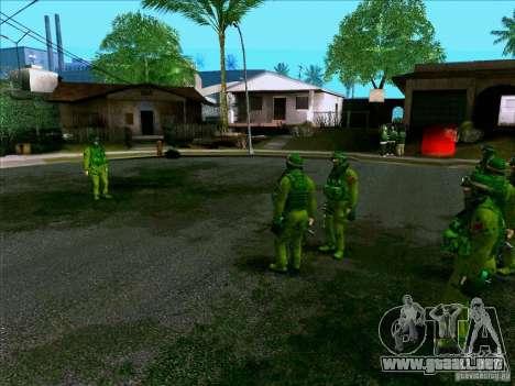 Camuflaje bosque Morpeh para GTA San Andreas sucesivamente de pantalla