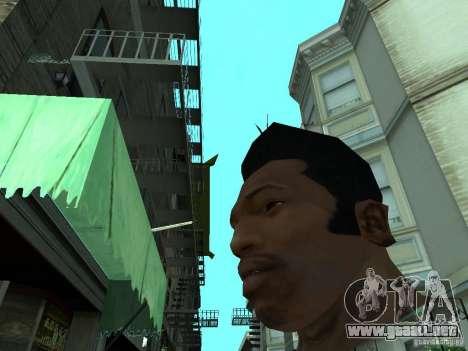 LA NUEVA CARA DE CJ para GTA San Andreas sucesivamente de pantalla