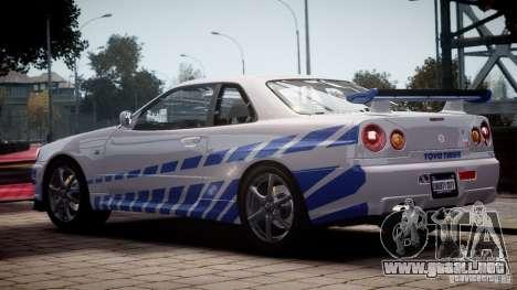 Nissan Skyline GT-R34 FNF para GTA 4 left