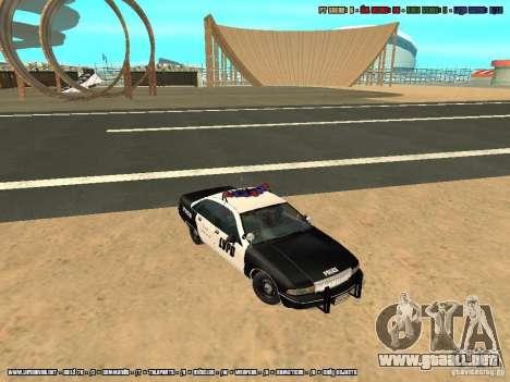 Chevrolet Caprice 1991 LVPD para visión interna GTA San Andreas