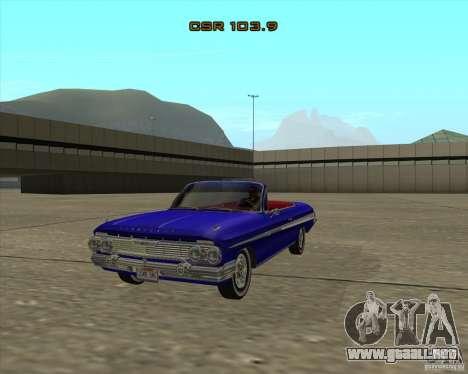 Chevrolet Impala SS 1961 para la visión correcta GTA San Andreas