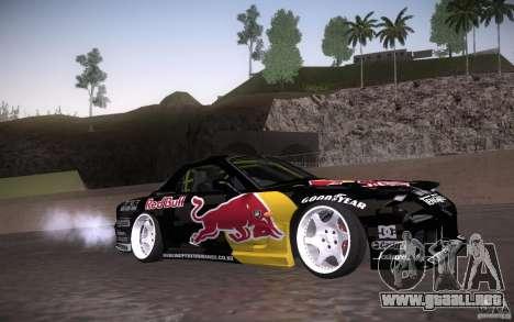 Mazda RX7 Madmikes Redbull para visión interna GTA San Andreas
