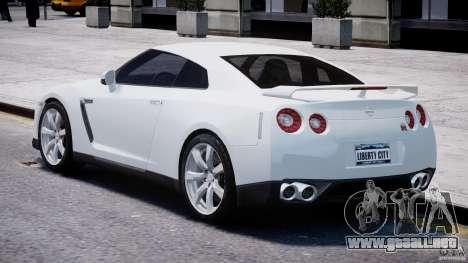 Nissan Skyline GT-R R35 para GTA 4 Vista posterior izquierda