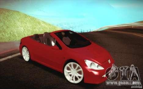 Peugeot 307CC BMS Edition para ordenadores portá para visión interna GTA San Andreas