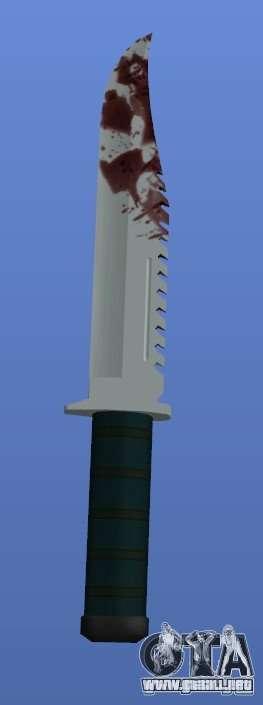 Bloody Knife V1.1 para GTA 4 tercera pantalla