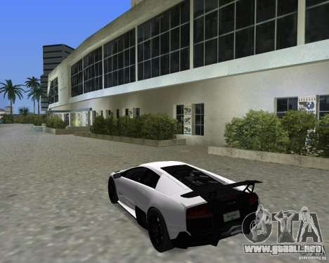 Lamborghini Murcielago LP670-4 SV para GTA Vice City visión correcta