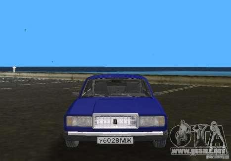 Auto LADA VAZ 2107 para GTA Vice City vista posterior