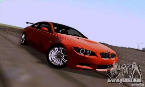 BMW M3 E92 v1.0 para la vista superior GTA San Andreas
