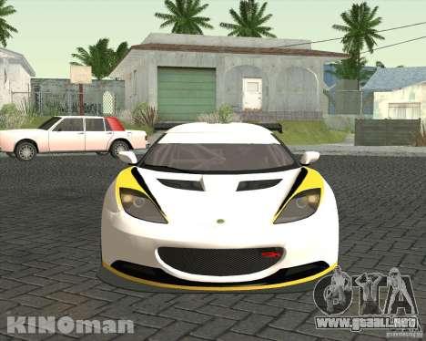Lotus Evora Type 124 para la visión correcta GTA San Andreas