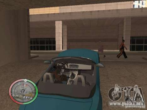 Car shop para GTA San Andreas quinta pantalla