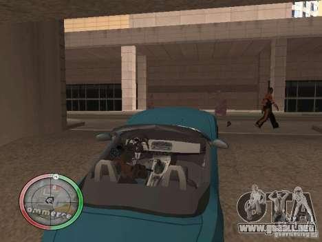 Car shop para GTA San Andreas quinta pantalla