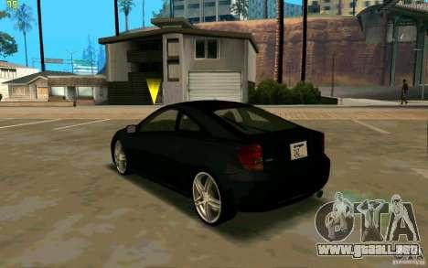 Toyota Celica 2005 para GTA San Andreas vista posterior izquierda