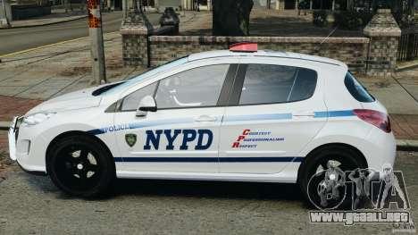 Peugeot 308 GTi 2011 Police v1.1 para GTA 4 left