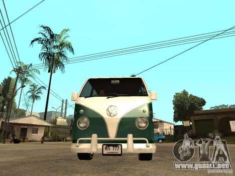 VW T1 Samba para la visión correcta GTA San Andreas