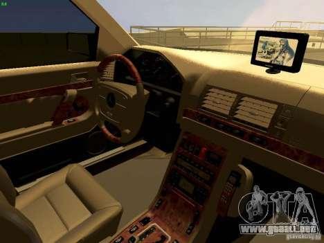Mercedes-Benz S600 V12 para vista lateral GTA San Andreas