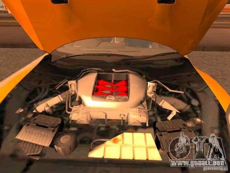 Nissan GT-R SpecV Black Revel para GTA San Andreas vista hacia atrás