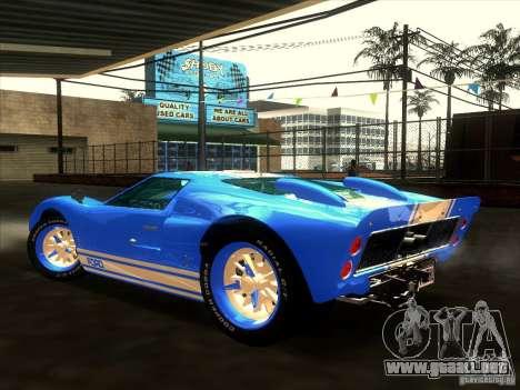Ford GT40 1966 para GTA San Andreas interior