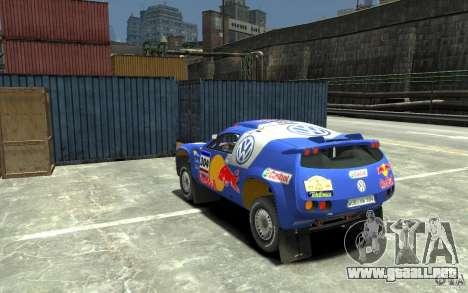 Volkswagen Touareg Rally para GTA 4 Vista posterior izquierda