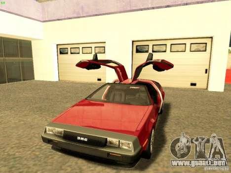 DeLorean DMC-12 V8 para la visión correcta GTA San Andreas