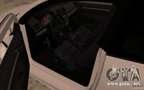 Volkswagen Golf Mk5 para GTA San Andreas vista hacia atrás