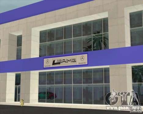 AMG showroom para GTA San Andreas segunda pantalla