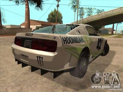 Ford Mustang Ken Block para GTA San Andreas vista posterior izquierda