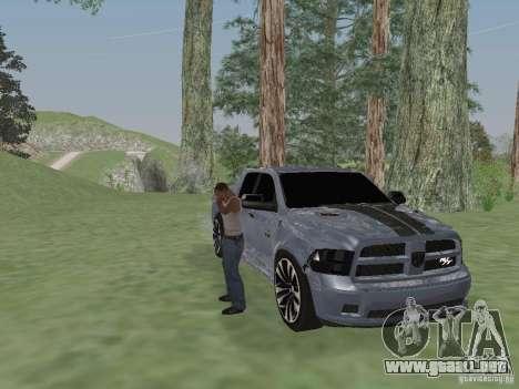 Dodge Ram R/T 2011 para GTA San Andreas vista posterior izquierda