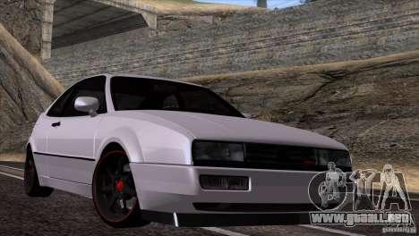 Volkswagen Corrado VR6 para GTA San Andreas vista posterior izquierda