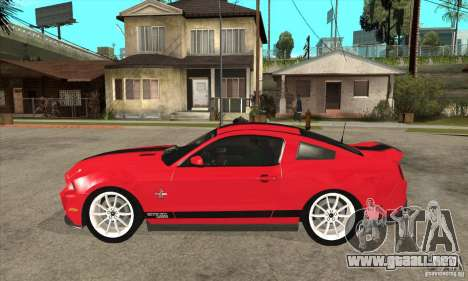 Ford Shelby GT500 Supersnake 2010 para GTA San Andreas left