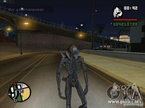 Xenomorph alienígena para GTA San Andreas quinta pantalla