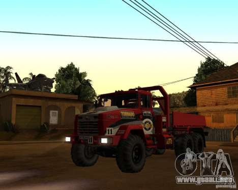 KrAZ-6322 juicio para GTA San Andreas left