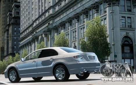 Acura RL 2006 para GTA 4 Vista posterior izquierda