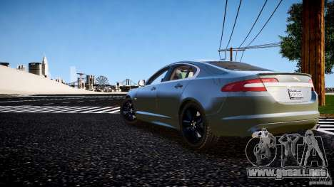 Jaguar XFR 2010 para GTA 4 left