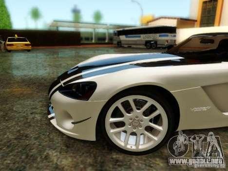 Dodge Viper SRT-10 Roadster ACR 2004 para la vista superior GTA San Andreas
