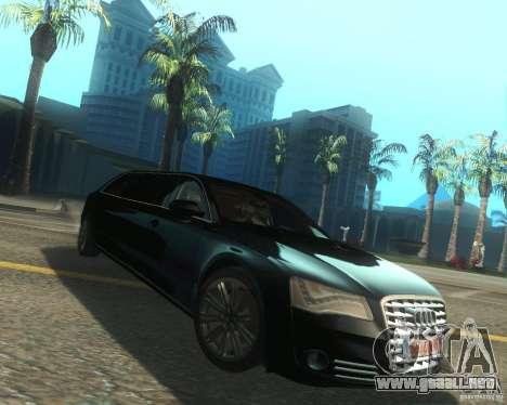 Audi A8 2011 Limo para la visión correcta GTA San Andreas