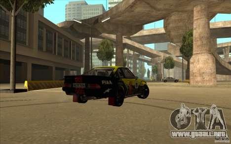 Opel Manta 400 para GTA San Andreas vista posterior izquierda