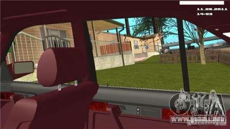 Cámara de la primera persona en el coche para GTA San Andreas tercera pantalla
