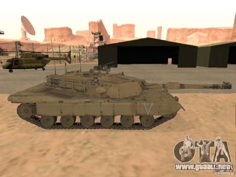 Abrams M1A2 para GTA San Andreas vista posterior izquierda