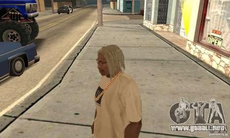 Cabello largo y rubio para GTA San Andreas