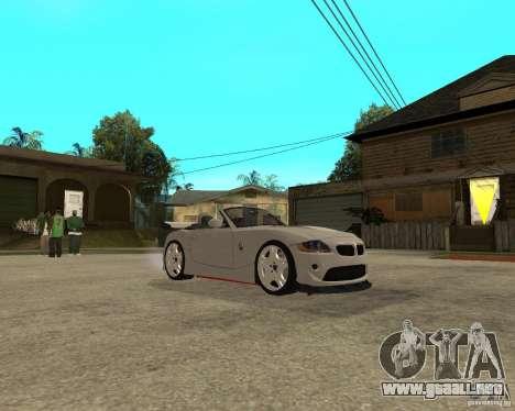 BMW Z4 Supreme Pimp TUNING volume II para GTA San Andreas vista hacia atrás