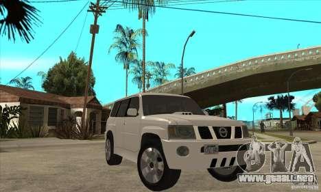 Nissan Patrol 2005 Stock para visión interna GTA San Andreas