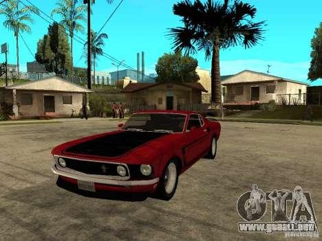 1969 Ford Mustang Boss 302 para GTA San Andreas
