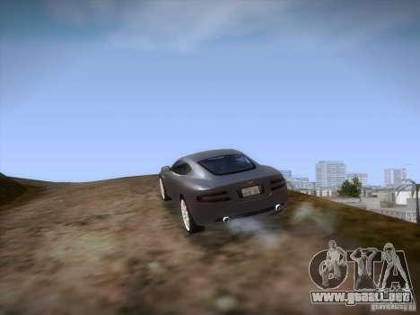 Aston Martin DB9 para la vista superior GTA San Andreas