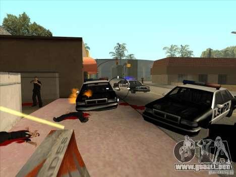 El guión de CLEO: ametralladora en GTA San Andre para GTA San Andreas segunda pantalla