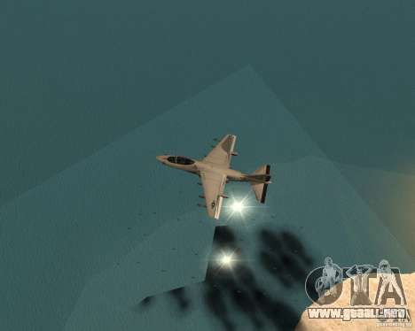 Cluster Bomber para GTA San Andreas sucesivamente de pantalla