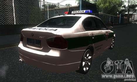 BMW 330 E90 Policija para la visión correcta GTA San Andreas