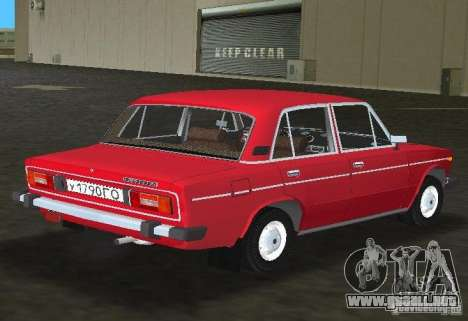 VAZ 2106 para GTA Vice City vista posterior