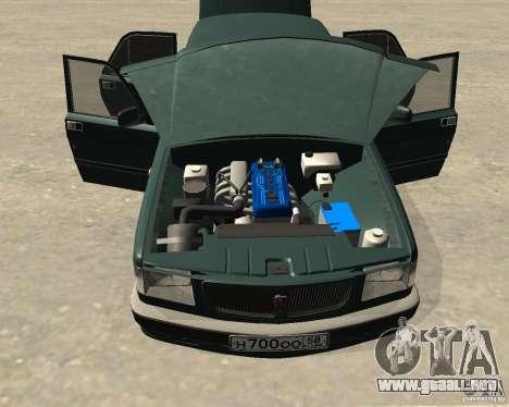 Volga GAZ 3110 para GTA San Andreas vista hacia atrás