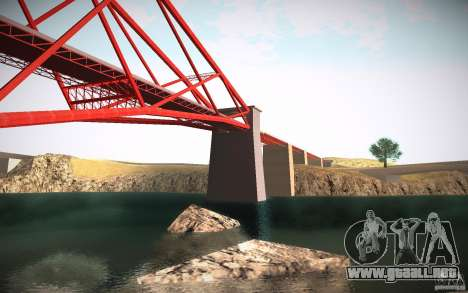 HD Red Bridge para GTA San Andreas quinta pantalla